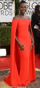 Lupita Nyong'o absolutely glowing in stunning red Ralph Lauren