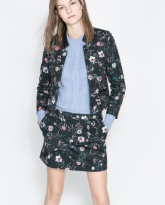 Floral skirt suit by Zara Jacket £25.99 down from £49.99 Skirt £15.99 down from £25.99