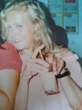 1990 - in a top belonging to my friend Hannah's mum