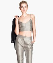 Cropped top £19.99 at H&M
