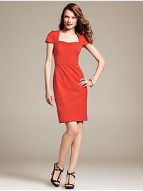 Orangey red dress £85 at Banana Republic