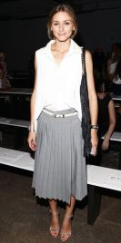 Olivia Palermo does preppy at New York Fashion Week