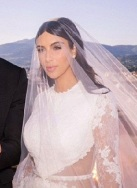 Kim's too high necked wedding gown