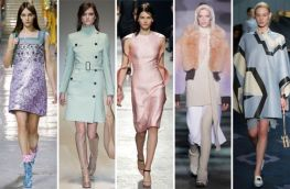 Autumn Winter 2014: Pastels at L to R; Miu Miu, Gucci, Christopher Kane, Marc Jacobs and Tod's