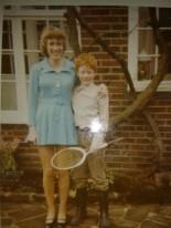 My mum in her mini in 1970