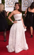 Salma Hayek and the Golden Globes 2015 style