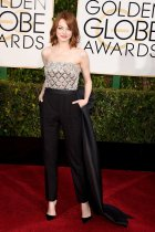 Emma Stone in Lanvin at the Golden Globes