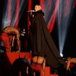 Madonna and her dreaded cape at the Brits