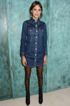 Look how much happier Alexa Chung is now in her machine washable denim dress!