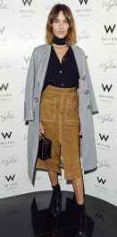 You think the long coat will protect your M&S skirt Alexa, but it won't!