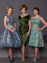 Betty, Joan and Peggy of Mad Men