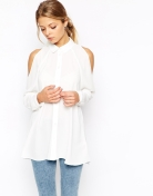 Bare shoulder shirt £38 at ASOS