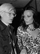 Diane von Furstenberg with Andy Warhol
