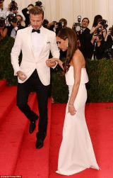 The Beckhams - their co-ordinating outfits could be a happy coincidence