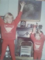 My brother and me channeling Bucks Fizz in 1982