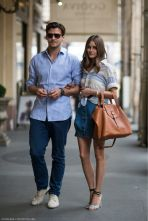 Olivia Palermo and Johannes Huebl breezily co-ordinated