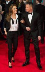 Brad Pitt and Angelina Jolie at the British Academy Film Awards 2014