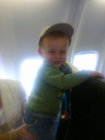 Children on planes - this was my son's first flight, he didn't want to sit down, it got nasty