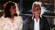Shriver and Navratilova - bet they wish they were Balding