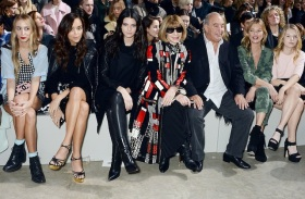 A FROW to be proud of: Sir Philip Green, nna Wintour, Kate Moss and A KARDASHIAN!