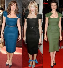 Carole Vordeman, Cameron Diaz and Rachel Weisz in the Galaxy