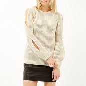 Cold shoulder jumper Zoe Jordan x River Island £65