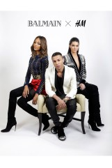 Balmain and his girls advertise the H&M collaboration