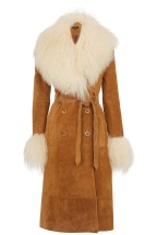 Suede coat £350 at Warehouse