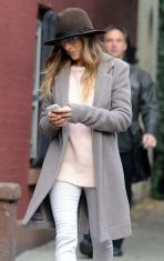 Accessories queen Sarah Jessica Parker and one of her hats