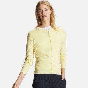 Cashmere mix lemon cardigan £29.90 at Uniqlo