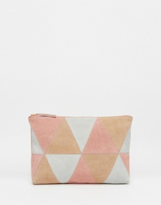 For 'Summers' - Pastel suede clutch £35 at ASOS.com
