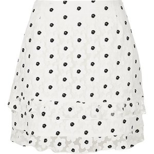 Ruffle skirt £35 at River Island