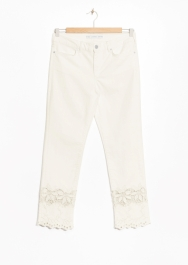 Broderie Anglaise insert jeans £55 at Other Stories