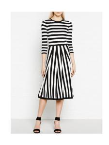 Monochrome dress £160 at Karen Millen