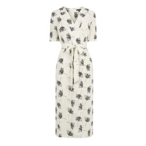 And a curvy one: Wrapover dress £55 at Warehouse