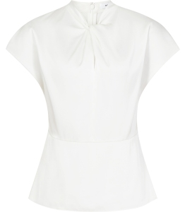 No curves: Ivory top £95 from Reiss