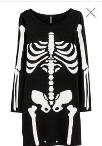 Skeleton dress £12.99 at H&M