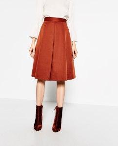 Skirt £29.99 from Zara