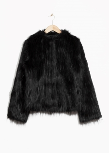 Faux fur jacket £125 at Other Stories