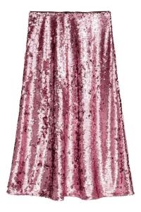 Sequin midi skirt £39.99 at H&M