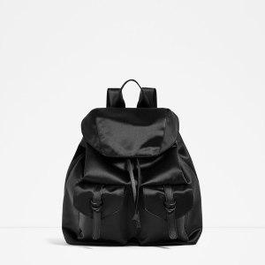 Satin rucksack £29.99 at Zara