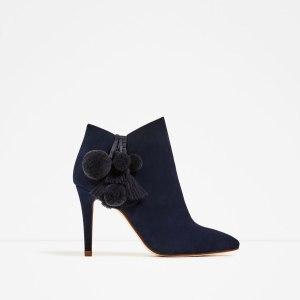 Blue velvet boots £79.99 at Zara