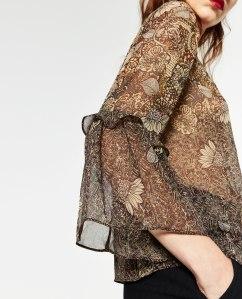 Sheer top down to £12.99 at Zara