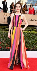 Michelle Dockery in Elie Saab at the SAGS
