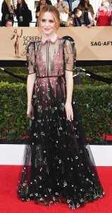Clare Foy in Valentino at the SAGS