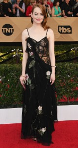 Emma Stone in McQueen at the SAGS