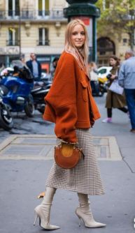 'Burnt orange' at Paris fashion week